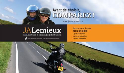5 à 15 % de rabais chez JA Lemieux pour les clients MotoPrécision